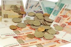 Russian moneys Royalty Free Stock Images