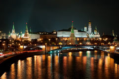 Russian Moscow Kremlin the most popular view Stock Images