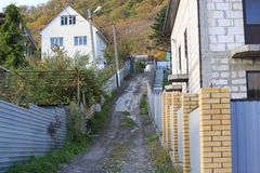 Russian mountain settlements Stock Photography