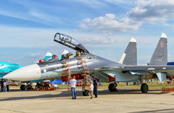 Russian multirole fighter Sukhoi Su-30 Royalty Free Stock Photo