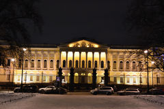 Russian Museum. The Mikhailovsky Palace at night. Royalty Free Stock Photos