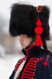 Russian musketeer portrait Royalty Free Stock Photos