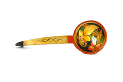 Russian national artistic wooden spoon Royalty Free Stock Photography