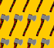 Russian national Axe seamless pattern.  Royalty Free Stock Photography