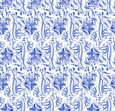 Russian national blue floral pattern Royalty Free Stock Photo
