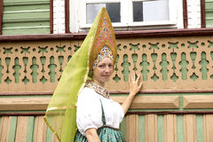 Russian national clothes. Royalty Free Stock Photography