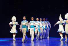 The Russian national costume-the Austria's world Dance Stock Photography