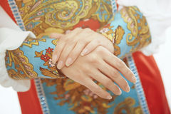 Russian national costume Royalty Free Stock Photos