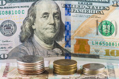 Russian national currency devaluation Royalty Free Stock Photography