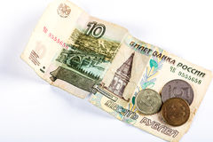 Russian national currency devaluation Royalty Free Stock Images