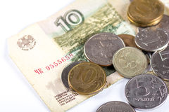 Russian national currency devaluation Royalty Free Stock Photo
