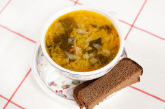 Russian national dish -  a Sauerkraut Soup Stock Image