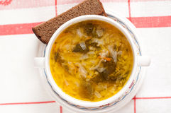 Russian national dish -  a Sauerkraut Soup Stock Images