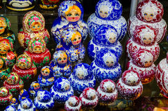 Russian national dolls matreshka Stock Photos