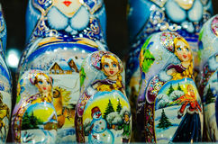 Russian national dolls matreshka Royalty Free Stock Photos