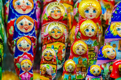 Russian national dolls matreshka Stock Images