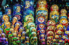Russian national dolls matreshka Royalty Free Stock Photography