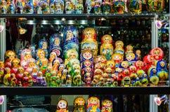 Russian national dolls matreshka Royalty Free Stock Images