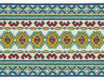 Russian national embroidery. Royalty Free Stock Image