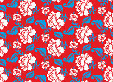Russian national flower pattern. Colors of Russia flag. Tricolor Royalty Free Stock Photos