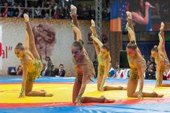 Russian national gymnastics aesthetic team Royalty Free Stock Photography