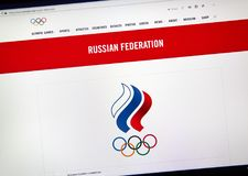 Russian National Olympic Committee. Stock Photo