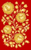 Russian national pattern style khokhloma. Stock Photo