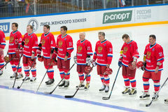 Russian National Team during the anthem Stock Photography