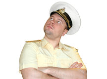 Russian naval officer. Stock Photos