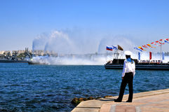 Russian naval parade in the Sevastopol city Royalty Free Stock Photo