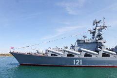 Russian Navy flagship cruiser Moskva Royalty Free Stock Photography