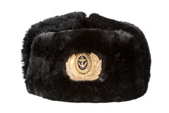Russian navy officer's winter hat Royalty Free Stock Images