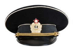 Russian navy service (peak) cap. On white background Stock Photo