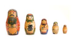 Russian nested doll family Royalty Free Stock Photos