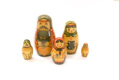 Russian nested doll family Stock Image