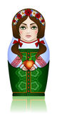 Russian nested doll in the summer season Royalty Free Stock Image
