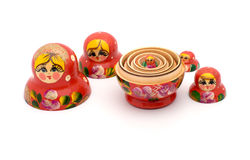 Russian nested dolls. Stock Photos