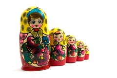 Russian nested dolls Stock Image