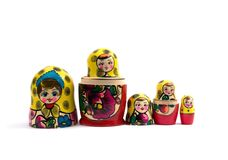 Russian nested dolls Royalty Free Stock Photo