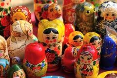Russian nested dolls matryoshka at the fair stock photos