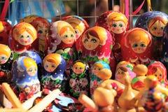 Russian nested dolls matryoshka at the fair Stock Photography
