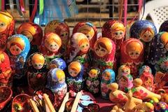Russian nested dolls matryoshka at the fair Royalty Free Stock Photo