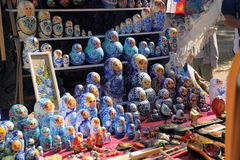 Russian nested dolls matryoshka at the fair Stock Photography