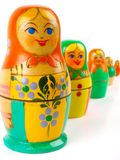 Russian nesting doll Royalty Free Stock Photos