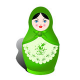 Russian nesting doll. And shadow over white background Royalty Free Stock Photos