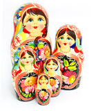 Russian nesting doll isolated on white Royalty Free Stock Photos