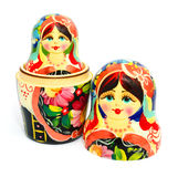 Russian nesting doll isolated on white Stock Images