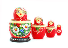 Russian Nesting Dolls. Set of Russian Nesting Dolls isolated on a white background Royalty Free Stock Photo