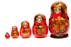 Russian nesting dolls Royalty Free Stock Images