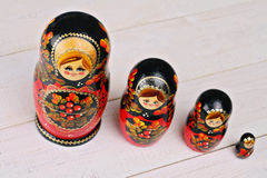 Russian Nesting dolls. Matryoshka doll, souvenirs, gifts from Russia Stock Images